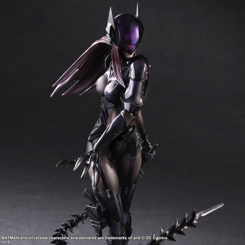 Catwoman Action Figure Playarts Kai Model Anime Toys Movie Bat Man Play Arts Kai Catwoman 260mm