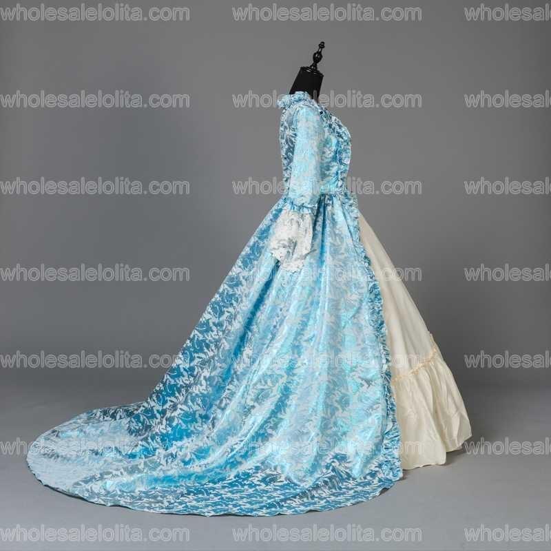 Custom Made Victorian Fancy Masquerade Klänningar Brocade Wedding - Särskilda tillfällen klänningar - Foto 4
