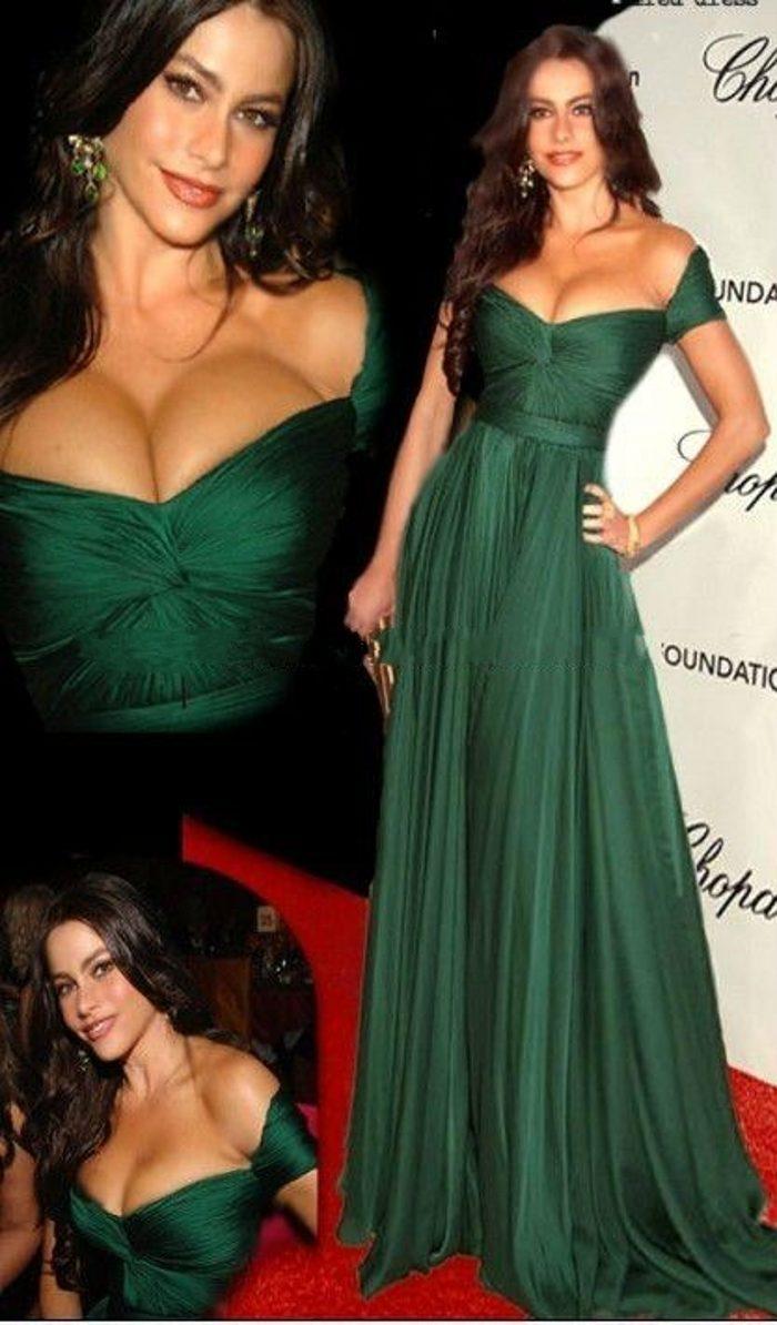 Vestido Longo Sexy Chiffon Long Floor Length Emerald Green Robe De Soiree Elegant Vestido De Festa Longo bridesmaid dresses