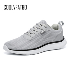 COOLVFATBO Brand Men Casual Shoes Lightweight Breathable Flats Footwear Loafers Sneakers
