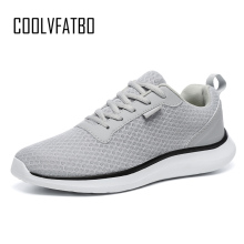 COOLVFATBO Brand Men Casual Shoes Lightweight Breathable Flats Men Sho