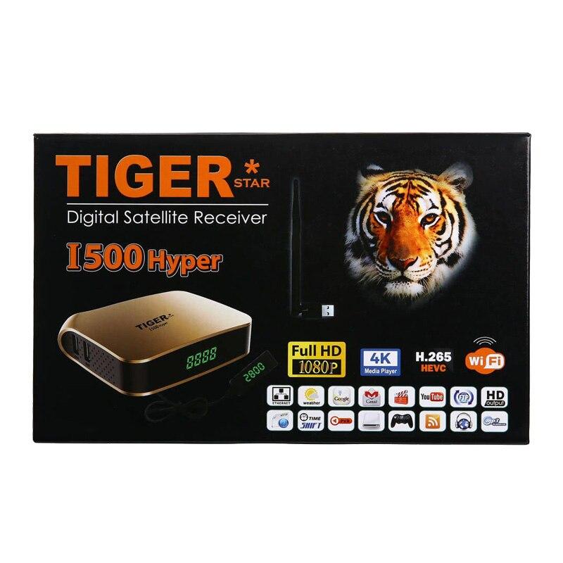 Tigre i500hiper receptor satelital soporte árabe IPTV suscripción 4K pantalla HD receptor de TV Digital por satélite DVBS2 sintonizador FTA - 3