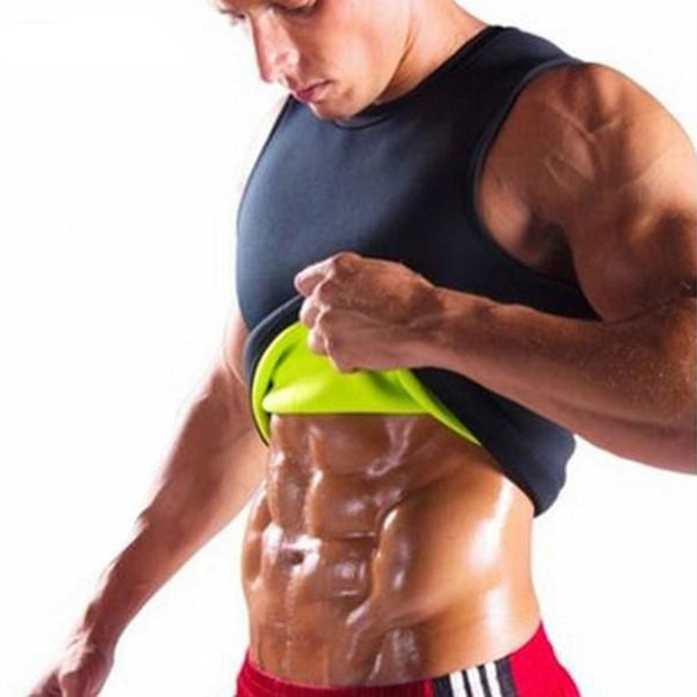 Shapers Mens Slimming Shirt Waist Trainer Corset Bodysuit Male Fat Burning Body Shapwear Vest Man Neoprene Abdomen 2019