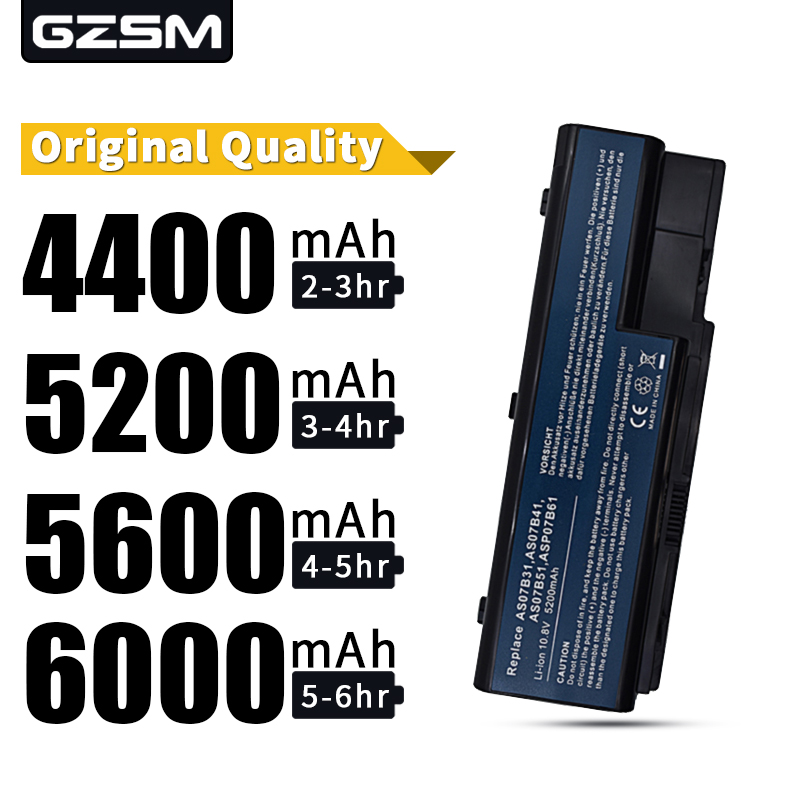 HSW Laptop Battery For Acer Aspire AS07B31 AS07B41 AS07B51 AS07B61 AS07B71 AS07B72 AS07B42 5230 5235 5310 5315 5330 5520 5530
