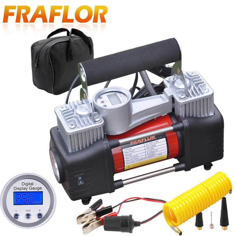 Digital 12V Air Compressor multifunction double cylinder inflator pump