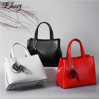 Famous Brand Women Real Leather Handbag European And American Style Women Genuine Leather Tote Bag Classic