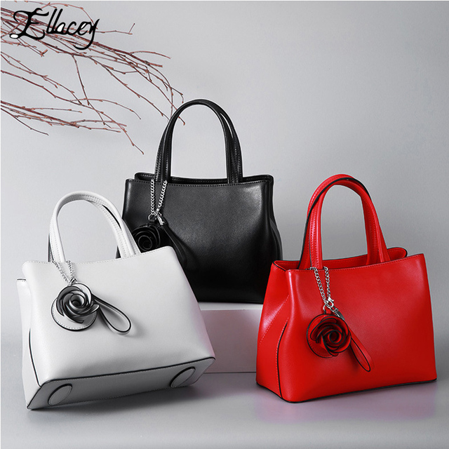 a9208a0640be Famous Brand Women Real Leather Handbag European and American Style Women  Genuine Leather Tote bag Classic Luxury Shoulder Bag