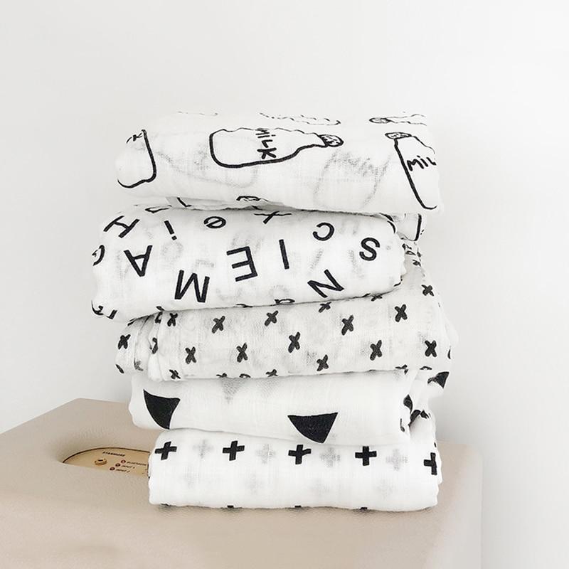 Drop Shipping Muslin 100% Cotton Baby Swaddles Blankets Newborn Soft Blankets Colorful Infant Wrap Sleepsack Swaddleme Manta