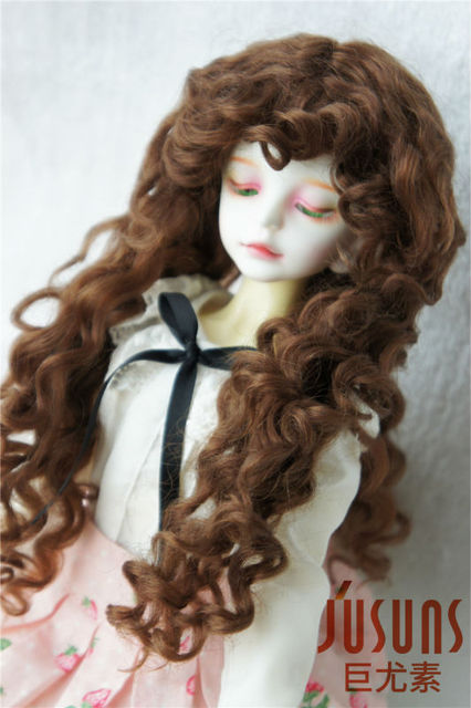 1/4 Mohair doll wigs  MSD soft long curly BJD wig 7-8 inch doll accessories