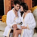 Factory direct wholesale winter -grade male and female couple cotton bathrobes bathrobe cotton bathrobe