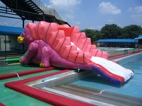 Fun game inflatable water slide for kids/ outdoor playground inflatable water game for sale