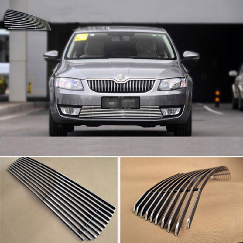 Alloy Aluminium Front Center Racing Mesh Bumper Grills Billet Grille Cover For Skoda Octavia 2015 casio pro trek prg 600yb 3e