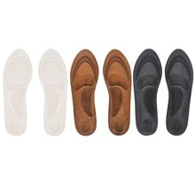 Winter 4D Thicken Velvet Warm Sport Sponge High Heel Insert Shoes Insoles Full Length Arch Support Orthopedic Cushioned Pads