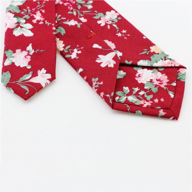 Mantieqingway 6 cm negocios novio boda floral Corbatas algodón ...
