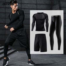 Men Sportswear Breathable Quick Dry Tracksuits Compression Gym Fitness Workout Clothes Sports Jogging Training Running Set Male