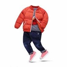 Children Boys Winter Cotton Coat New 2017 Winter Warm Thick Boys Jacket Outerwear Children's Mandarin Collar Clothes Outerwears