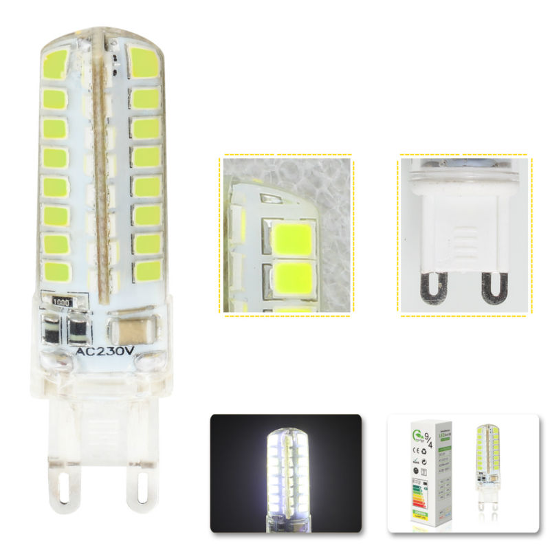 1x pcs mini G9 led bulb led G9 220v 5W 9W 32pcs 64pcs smd 2835 silicone body light warm white Replace Halogen Lamp image