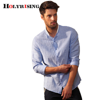 Linen Shirt Men Long Sleeve Summer Style Hawaiian Shirts Sexy Slim Fit Men Clothes Male Casual