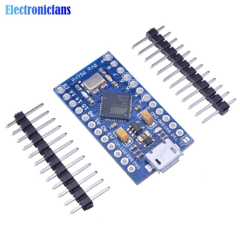 Micro USB ATmega32U4 Pro Micro 3.3V 8MHz Board Module For Arduino/Leonardo ATMega 32U4 Controller Pro-Micro Replace ATmega328