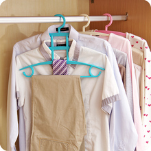 Creative Multi Function Four Layer Magic Clothes Rack Household Wardrobe Multilayer Hanging Type Plastic Anti Slip