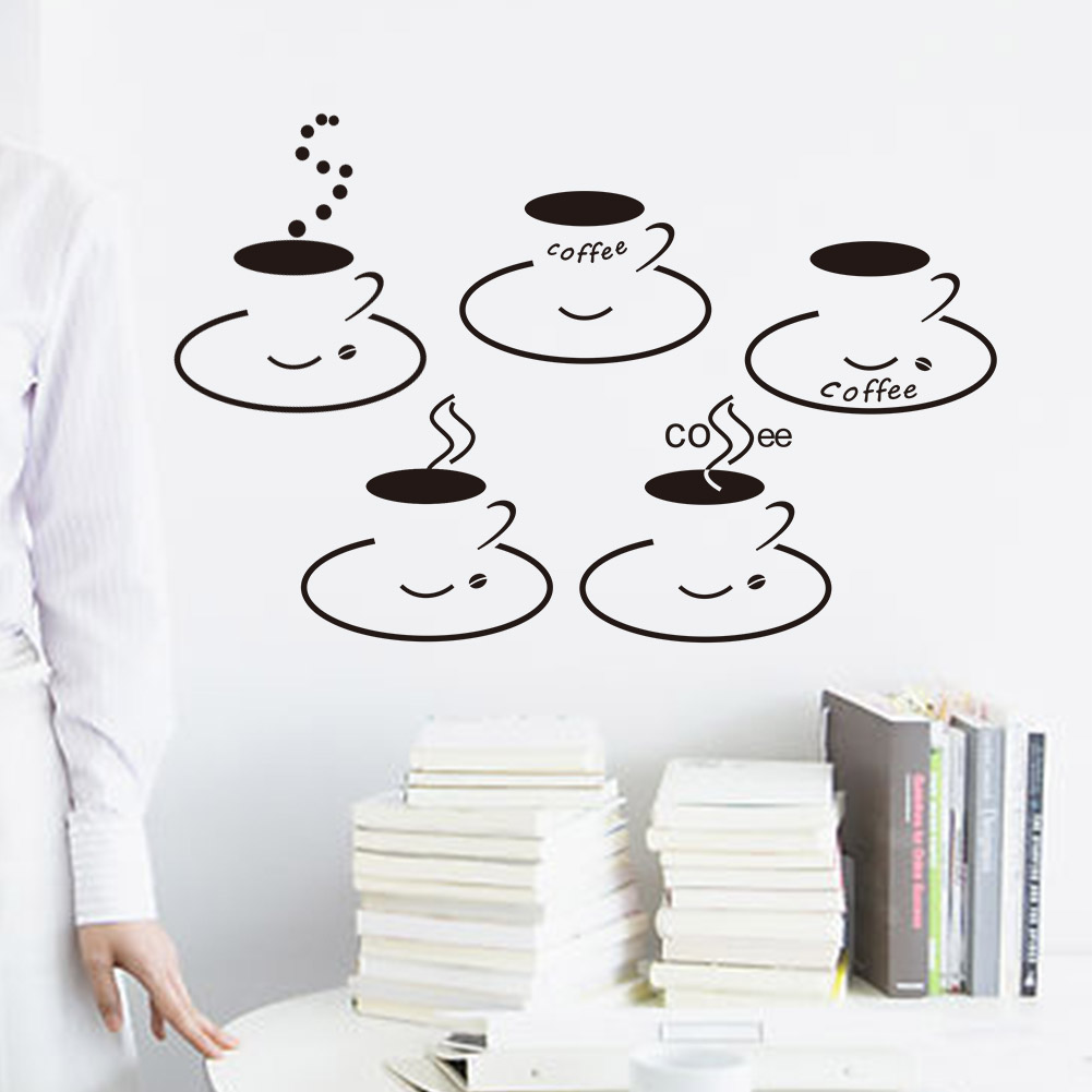 Have A Cup Of Coffee Sticker Shop Kitchen Dining RoomDecoration Diy Home Decal Vinyl Art Room Mural Posters Adesivos De Paredes