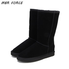 MBR FORCE High Quality Snow Boots Women Fashion Genuine Leather Australia Classic Women's High Boot Winter Women Snow Shoes(China)