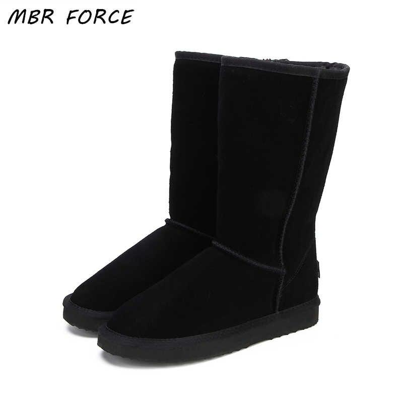 1aaa8b2f7 MBR FORCE/зимние сапоги высокого качества, модные женские сапоги из  натуральной кожи в австралийском