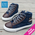 New 2014 Brand Children Sneakers Fashion Children Shoes Denim Jeans Boy Shoes High Quality Canvas & Leather Kids Shoes