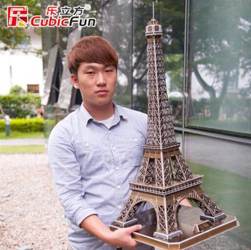 39*36*78 см Cubicfun 3D Бумага Головоломка Эйфелева Башня 82 шт. Модель MC091h