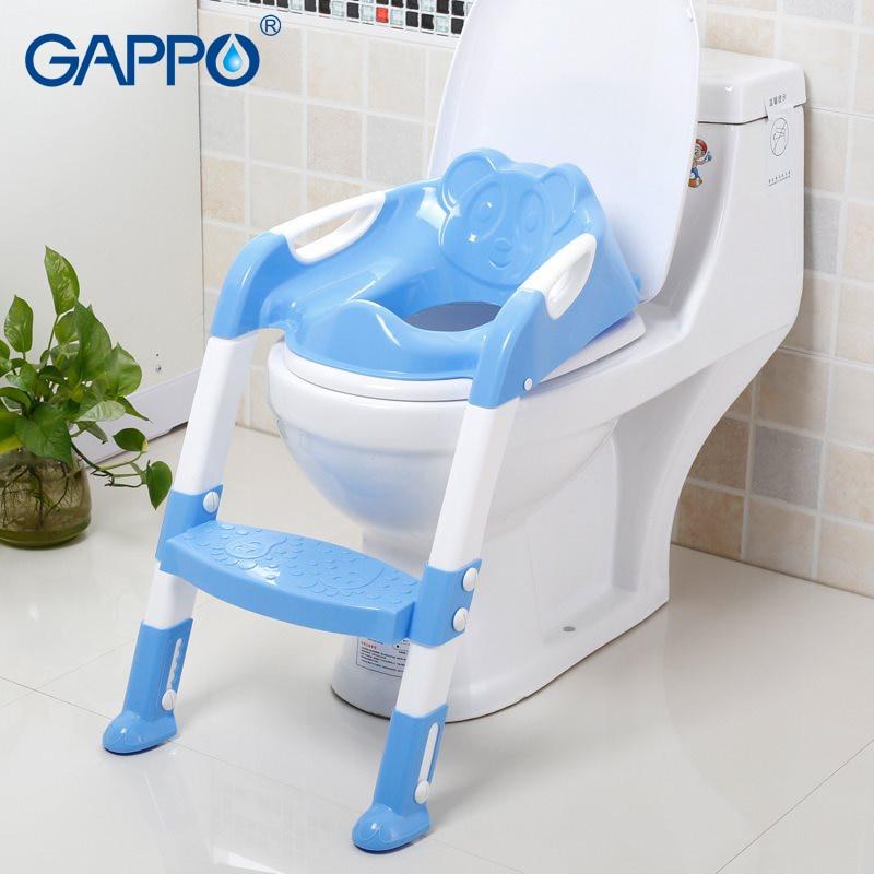GAPPO Toilet Safety Rails child kid Toilet Trainer folding Chair Adjustable Ladder infant Potty Toddler Children