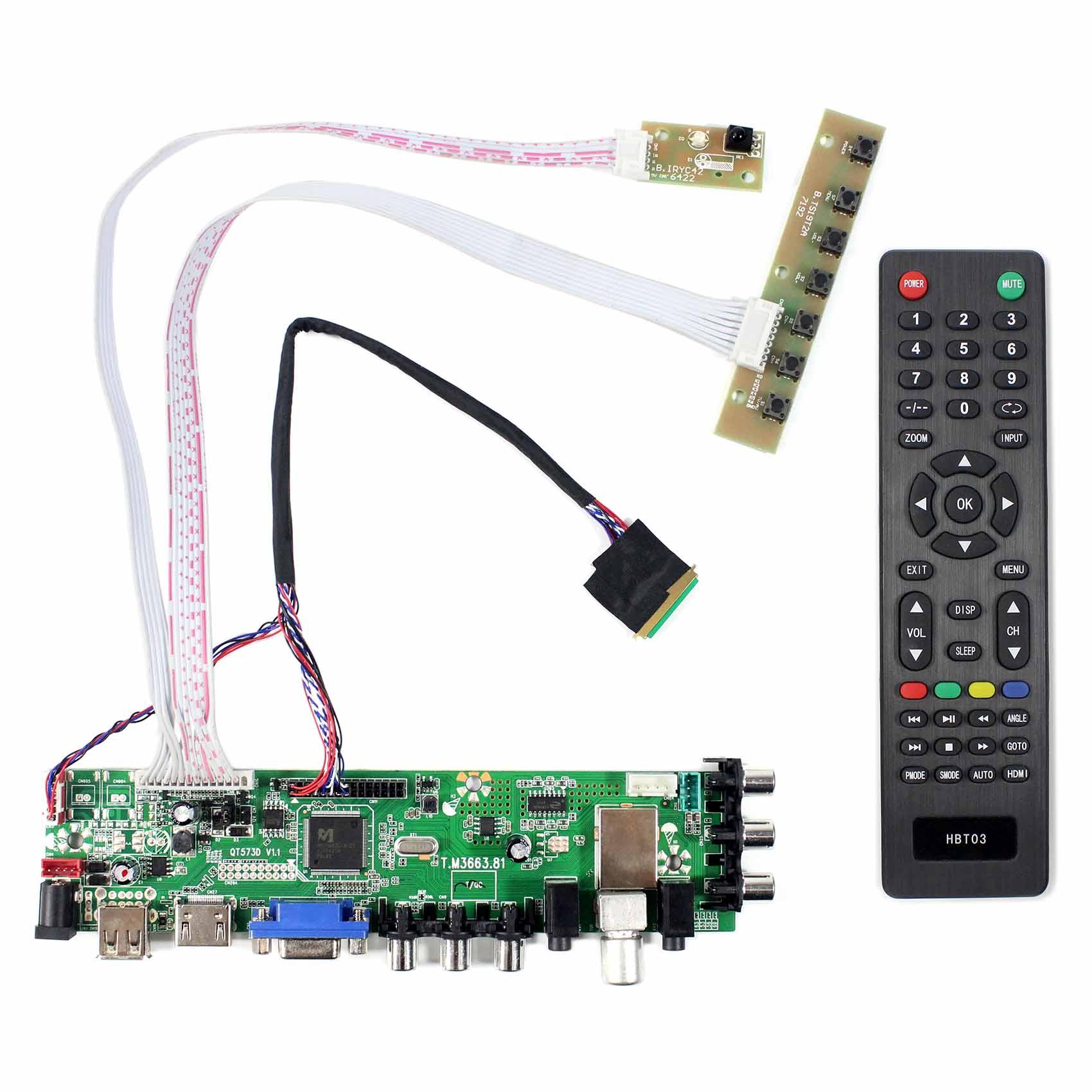 LTN101NT02 B101AW03 N101L6 LP101WSA BT101IW03 CLAA101BN01 HSD101PFW2 N101BFE CLAA101WB03 B101AW06  HDMI USB ATV DTV Controller