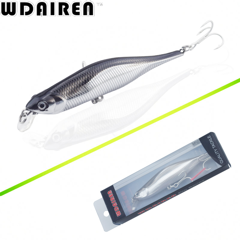 WDAIREN New Fishing Lures Minnow Crank 11cm 11g Artificial Japan Hard Bait Wobbler Swimbait Hot Model Crank Bait 5 Colors WD-478 wdairen new fishing lures minnow crank 11cm 11g artificial japan hard bait wobbler swimbait hot model crank bait 5 colors wd 478