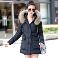 A Word Version Fur Collar Long Winter Jacket Women 2017 Winter Coat Women Slim Womens Winter Jackets And Coats Veste Parka Femme