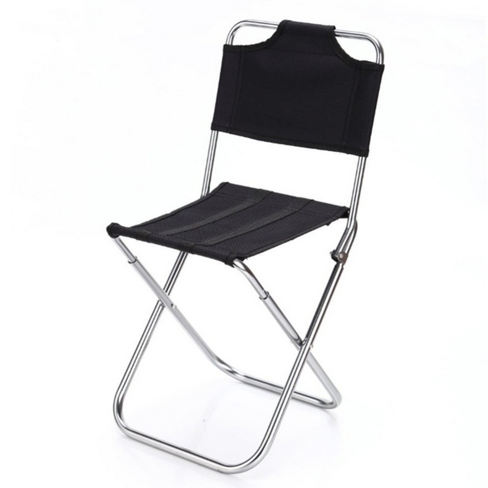portable outdoor fishing folding chairs garden picnic camping black aluminum home furniture stackable - Outdoor Folding Chairs