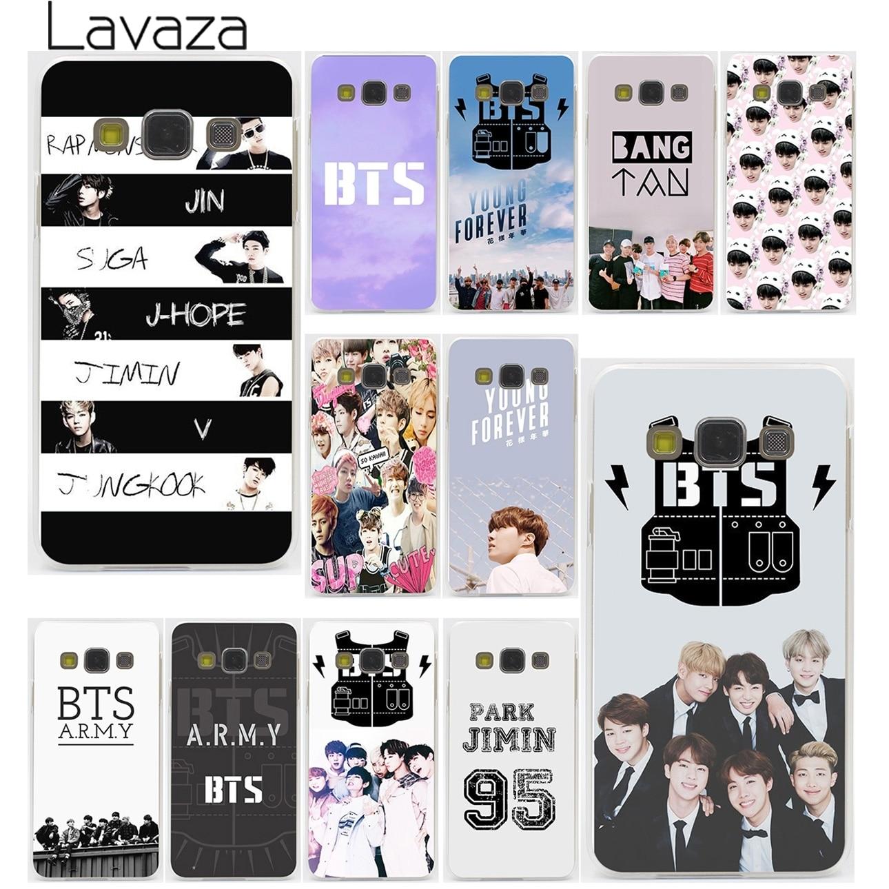BTS  Bangtan Boys music logo  Hard Case Transparent for Galaxy A3 A5 7 8 J5 7 & Note 2 3 4 5 & Grand Prime
