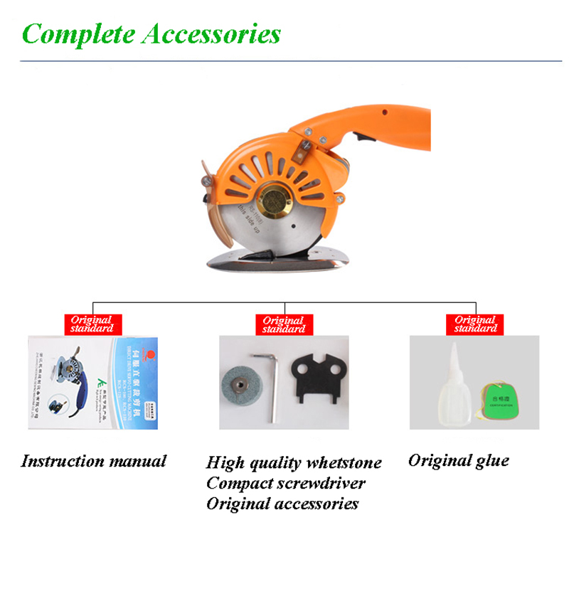 New Clothing Cutting Electric Round Scissors Machine Automatic Sharpening Direct Drive Electric Scissors RSC 100
