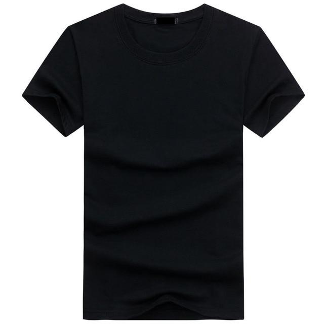 2019 6pcs/lot  High Quality Fashion Mens T Shirts Casual Short Sleeve T-shirt Mens Solid Casual Cotton Tee Shirt Summer Clothing 1