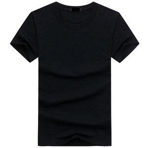 Image 3 - 2020 6 sztuk/partia wysokiej jakości mody męskie t shirty na co dzień z krótkim rękawem T shirt męskie stałe Casual Cotton Tee Shirt lato odzież