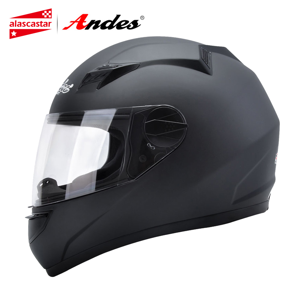 цена на Andes Motorcycle Helmet Full Face Moto Helmet For Scooter Unisex Biker Capacete Motocross Motorbike Moto With Anti-fog Visor