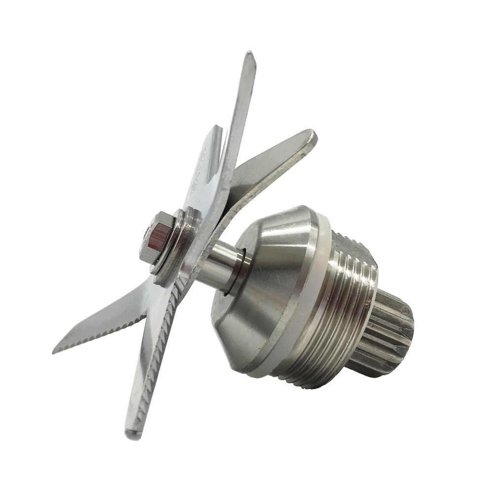 Peças de reposição liquidificador aço inoxidável endurecido seis mistura e corte lâminas serrilhadas facas Socket Drive Abridor de conjunto completo