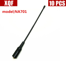 XQF 10 шт. NA-701 ручной антенна SMA-F UHF+ VHF для иди и болтай walkie talkie BAOFENG UV-5R 888 s H777 HYT PUXING TYT WOXUN двухстороннее радио