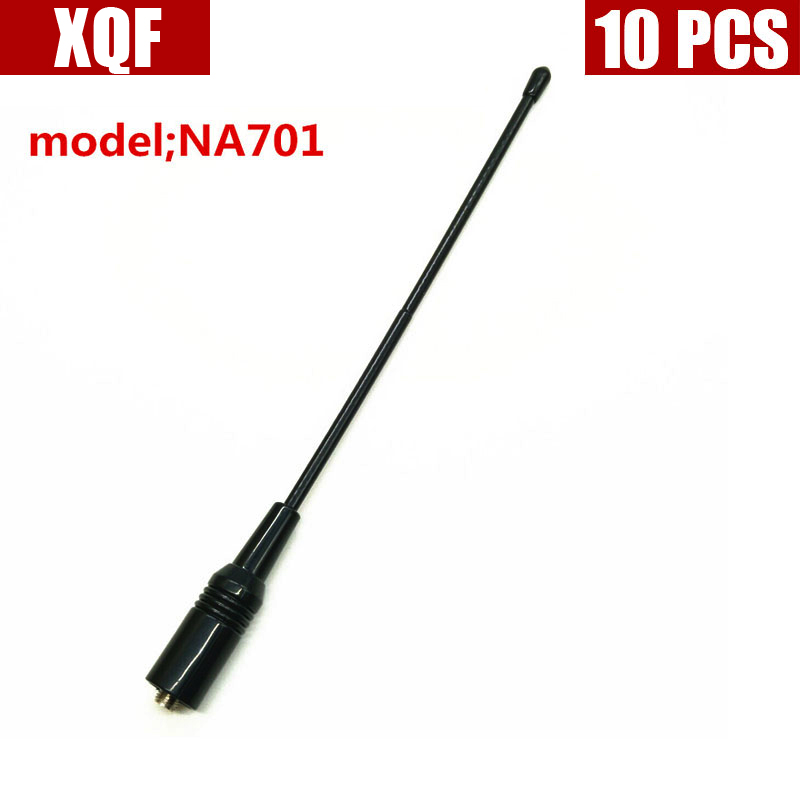 XQF 10PCS  NA-701 Handheld Antenna SMA-F UHF+VHF For Walkie Talkie BAOFENG UV-5R 888s H777 HYT PUXING TYT WOXUN Two Way Radio
