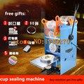 Ручная машина для запечатывания стаканчиков  упаковщик чайных стаканчиков с пузырьками  машина для упаковки пластиковых стаканчиков  маши...