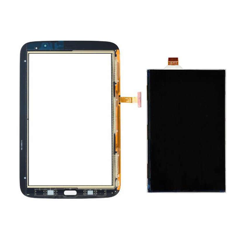 شاشة الكريستال السائل لوحة شاشة رصد أسود/أبيض محول الأرقام بشاشة تعمل بلمس الزجاج الاستشعار لسامسونج غالاكسي نوت 8.0 GT-N5110 N5110