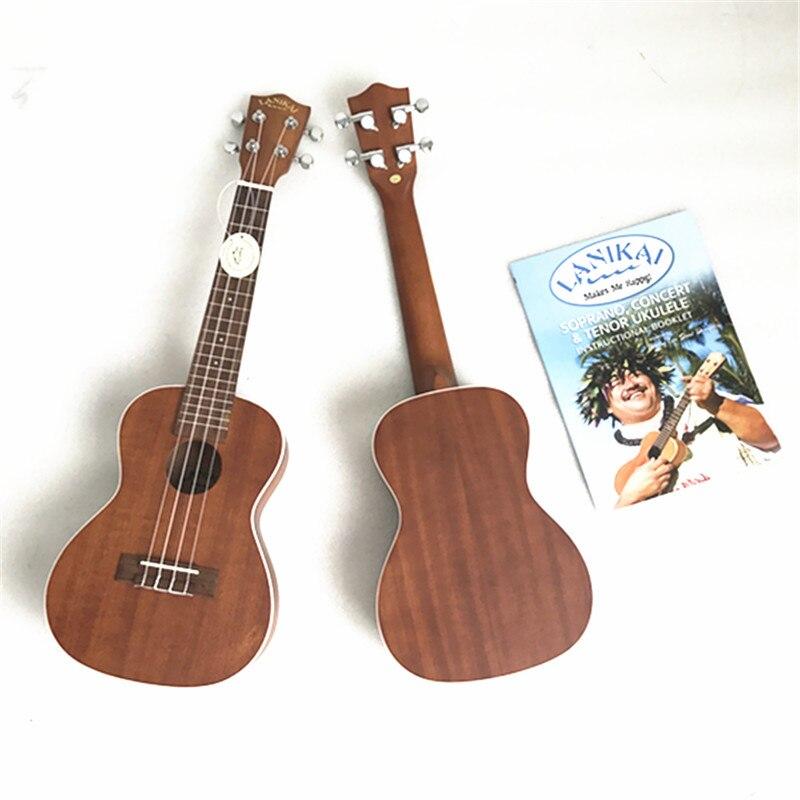 Lanikai marque ukulélé Soprano de haute qualité et Concert Ukelele en acajou