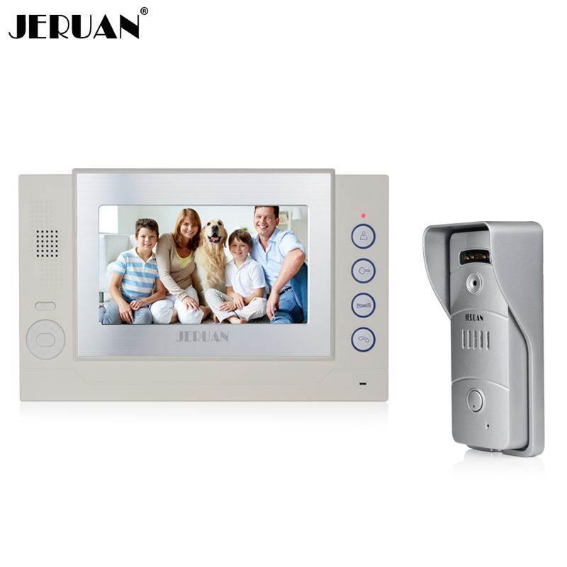bilder für JERUAN Home safety 7 ''Lcd-bildschirm video tür telefon intercom system Metall shell 700TVL wasserdicht Lochkamera 8G SD