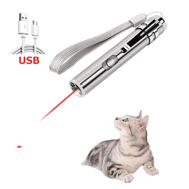 Cat Chaser Giocattoli 2 in 1 Multi Funzione Divertente Gatti Laser Giocattolo In