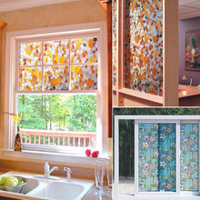 1PC 45x100cm Creative Colorful Self-adhesive Glass Window Stickers Decorative PVC Frosted Glass Opaque Window Glass Film Sticker(China)