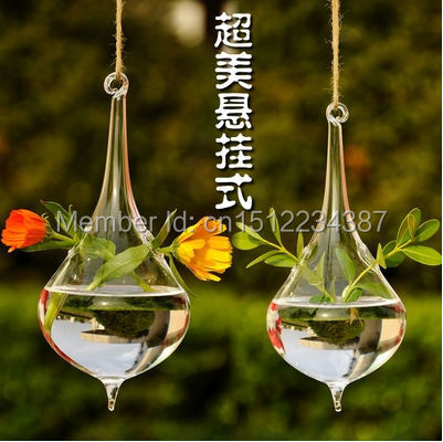Free Shipping Transparent Glass Vase, Hanging Hydroponic Stylish Modern Home  Decoration Flowers