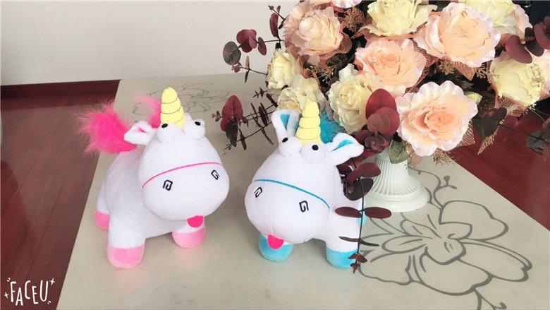 HTB1iKuISXXXXXbLXpXXq6xXFXXXQ - Cute pink/blue stuffed PP Cotton Horse doll Christmas present kids doll baby plush toys 30cm Cartoon plush Unicorn toys VOTEE